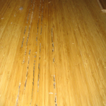 Blisters in wood flooring