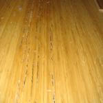 Blisters in wood flooring